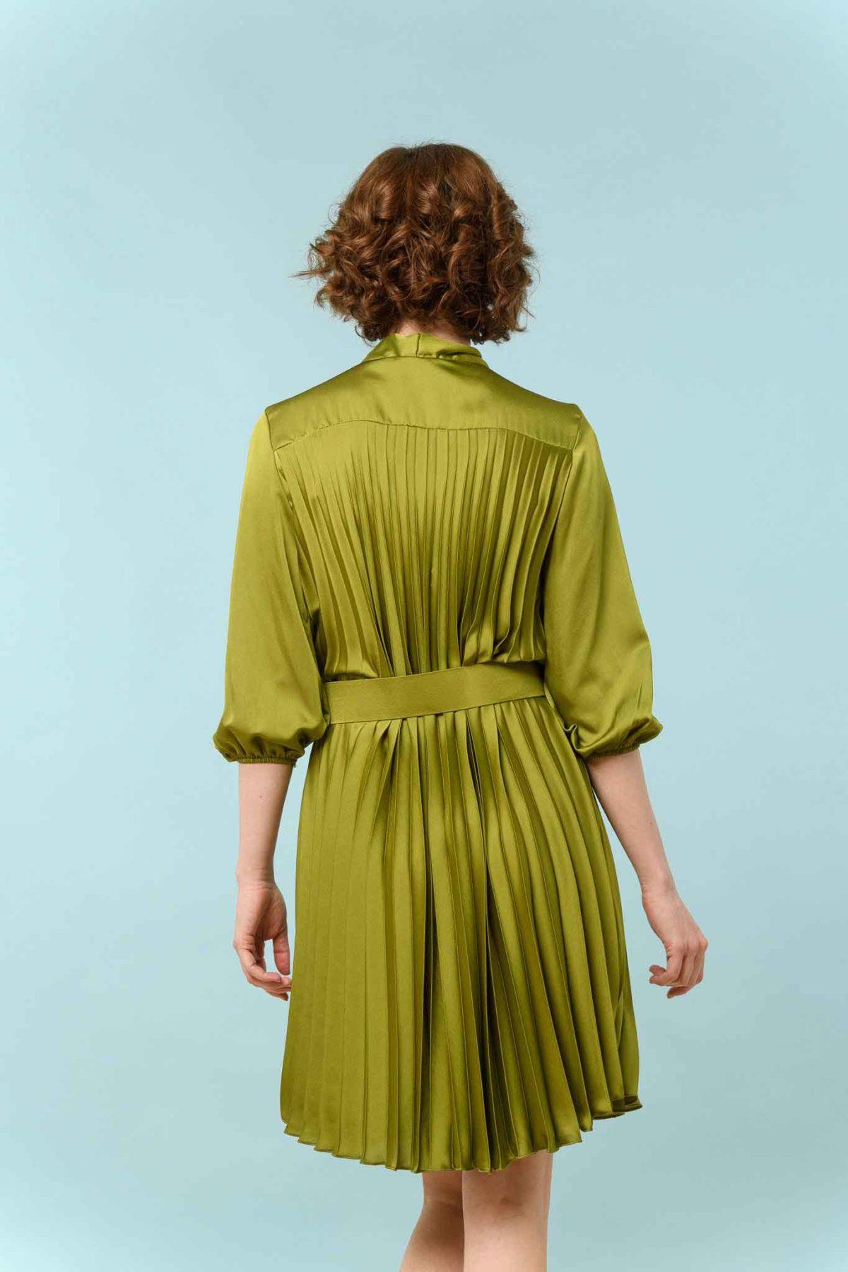 φόρεμα μιντι πλισέ