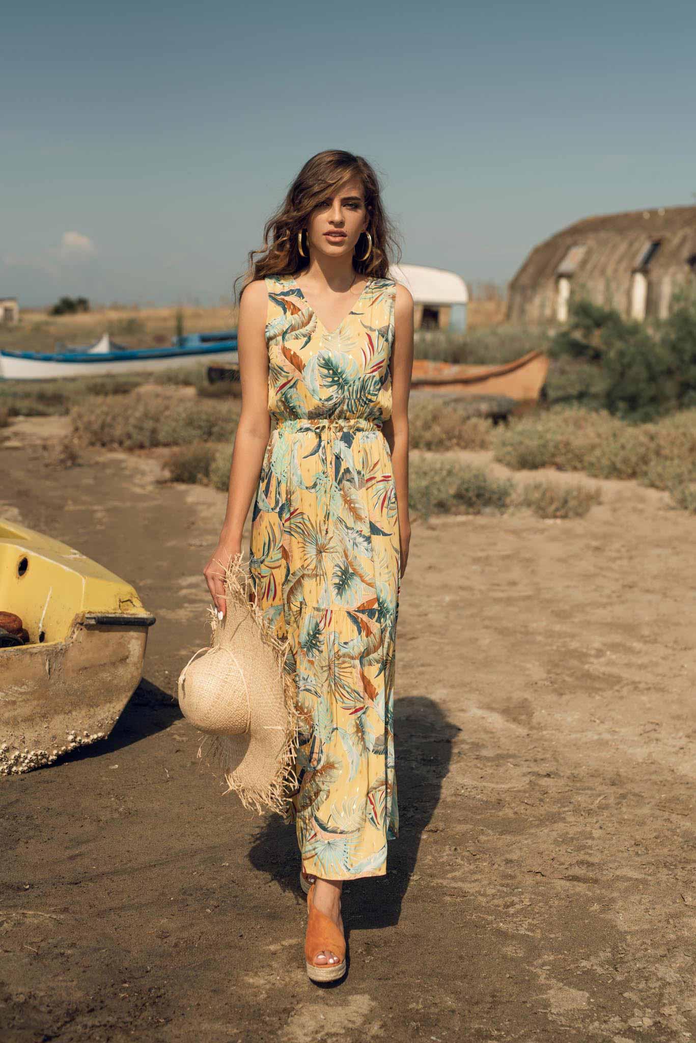Φόρεμα Maxi φλοράλ Print