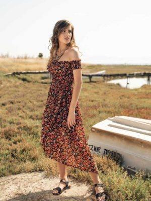 φόρεμα ασύμμετρο κορσέ effect