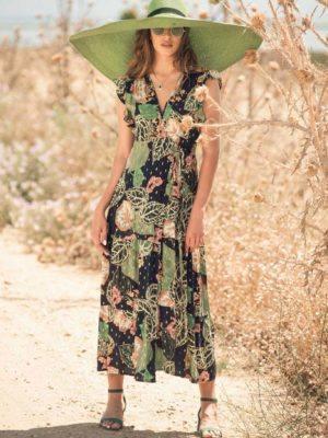 Φόρεμα - κιμονό με χρυσές λεπτομέρειες
