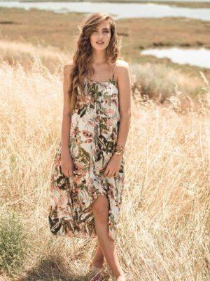Φόρεμα bohemian ασύμμετρο
