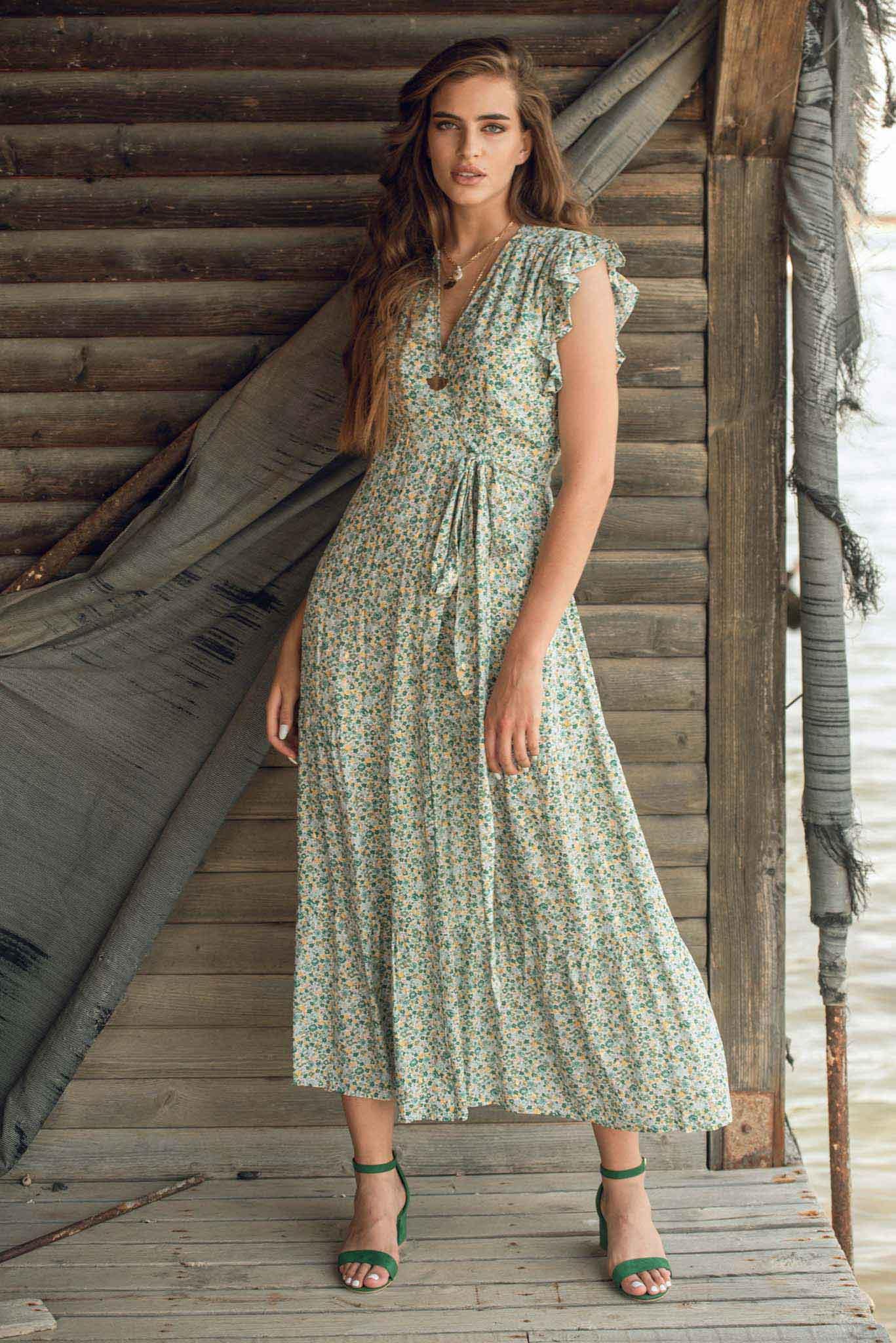 Φόρεμα vintage floral print