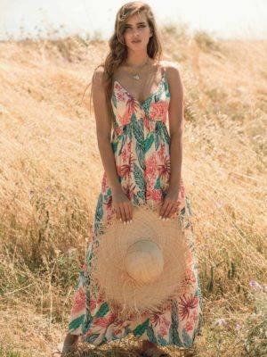 Φόρεμα maxi λεπτή τιράντα