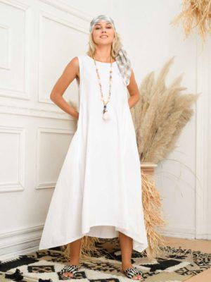 φόρεμα maxi ασύμμετρο
